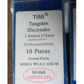 Вольфрамовий електрод WT-20 1,6 мм/175 мм
